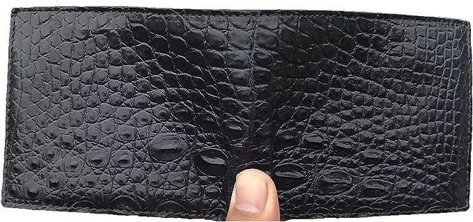 gift for him Genuine Alligator hornback skin bifold wallet men 100/% handmade from crocodile leather