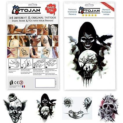 Gótico/Halloween Tatuajes Temporales por Lote de 4 Tatuajes ...