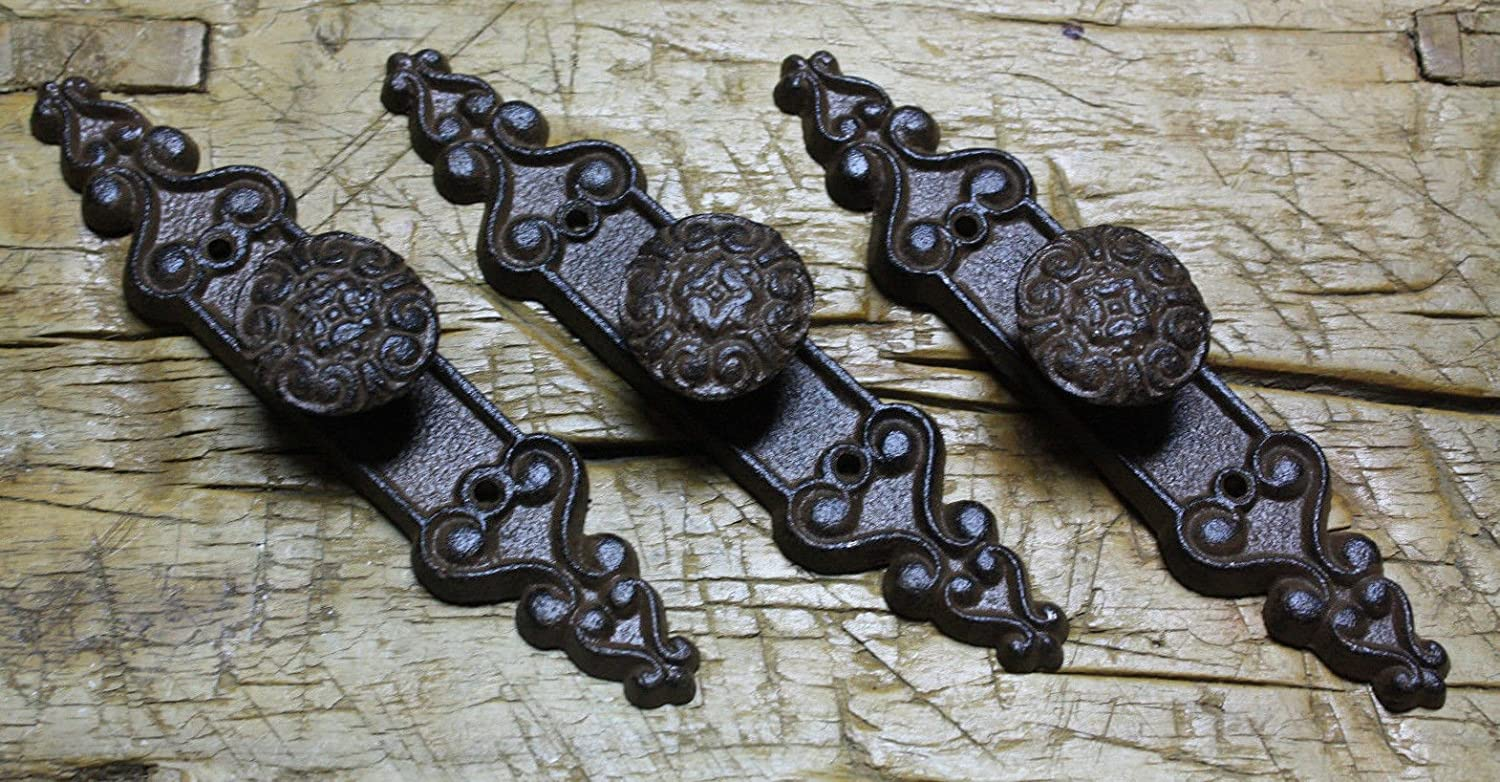 8 Bird Knobs Handles Pulls Drawer Door Shed rustic cast iron antique style Barn