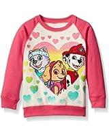 Nickelodeon Paw Patrol Girls' Skye, Everest, and Marshall hearts French Terry Sweatshirt