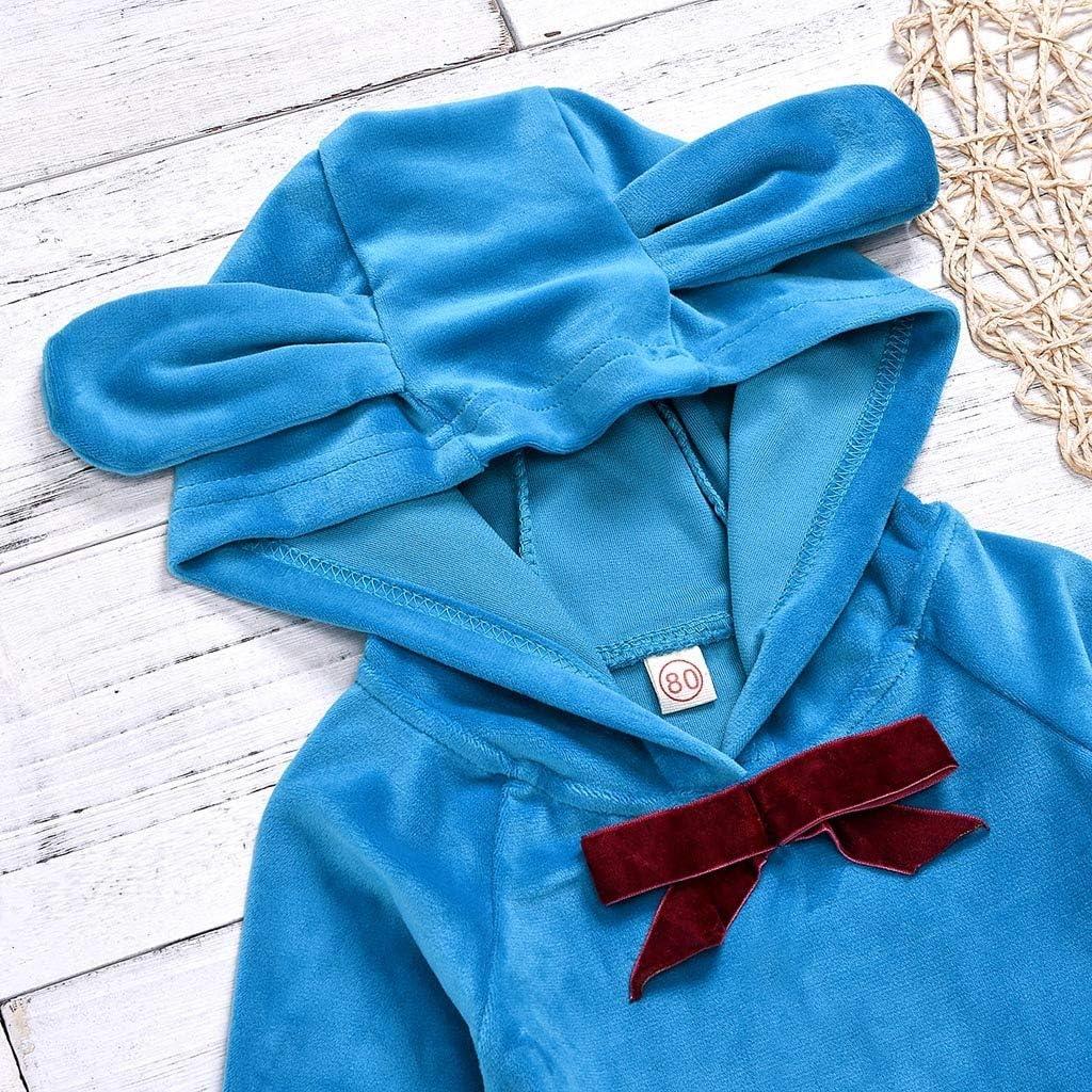 Neugeboren Baby M/ädchen Warm Langarm Hoodie Shirt Tops Hose f/ür 0-24 Monate Outfits Set Rosa Baumwolle Kleidung Set mit Blumen Druck Zhen