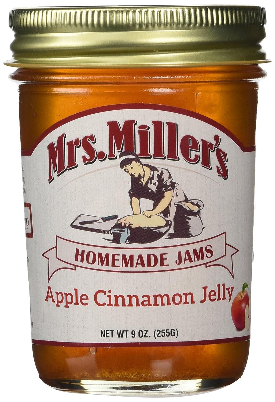 Mrs Millers Apple Cinnamon Jelly (Amish Made) ~ 2 / 8 Oz. Jars