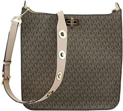98dc349bf08a2 Amazon.com  MICHAEL Michael Kors Sullivan Large North South Messenger  Mocha  Shoes