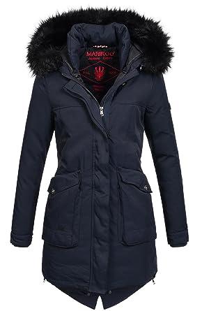 38f27c96de47a0 Marikoo Winter Parka Damen Jacke Winterjacke Mantel Warm gefüttert .