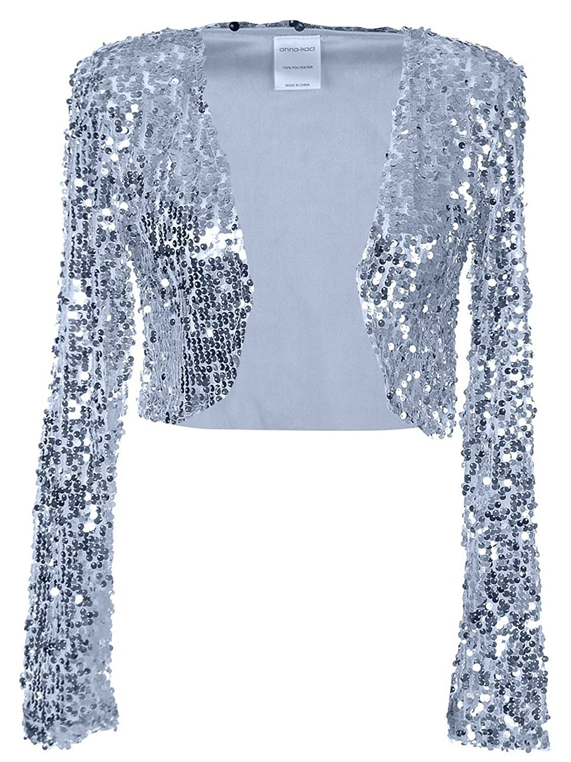 Sequins Long Sleeve Bolero