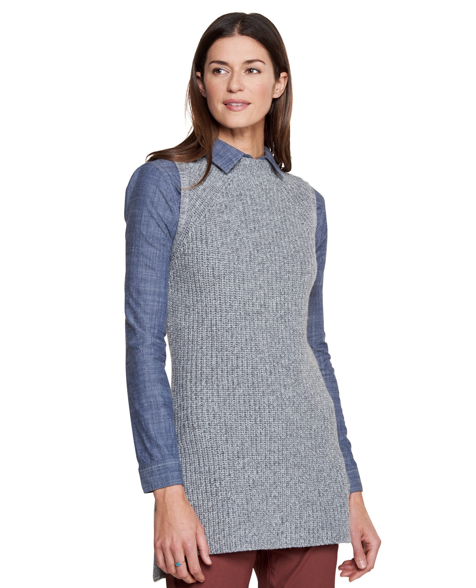 Toad&Co Women's Makenna Sweater Vest, Charcoal Heather, Small