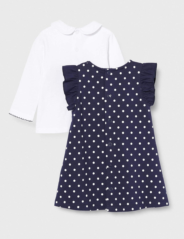 Brums Baby-M/ädchen Abito Felpina Con Stampa Pois+top Ct Kleid