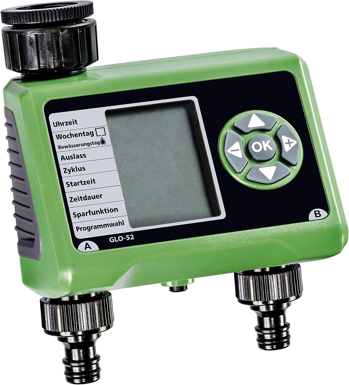 Bew/ässerungscomputer GLO-52 mit 2 Ausl/ässen Display elektronisch automatisch digital