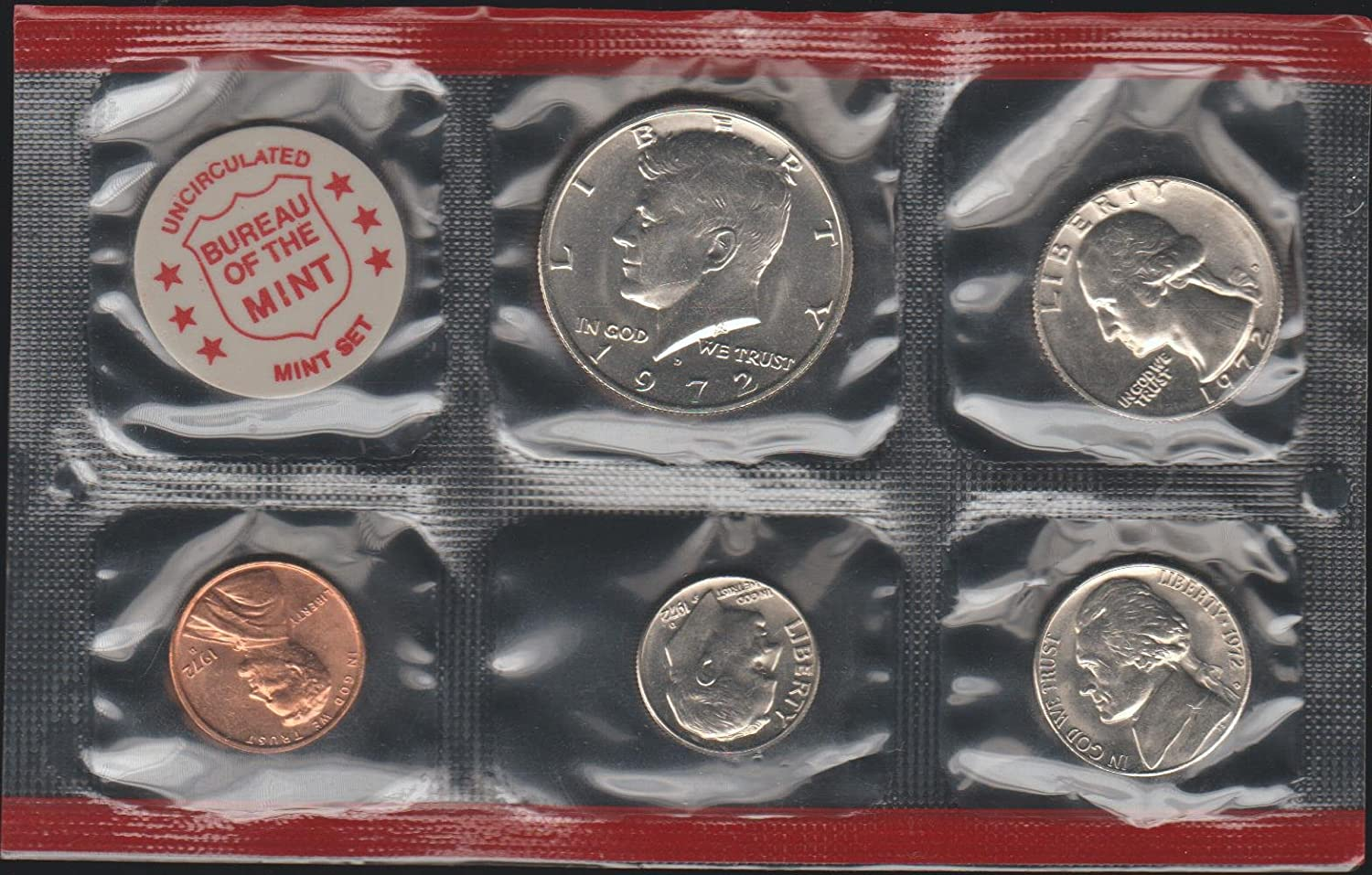 Us Mint As Pictured The Latest Fashion 1972 Uncirculated Coin Set