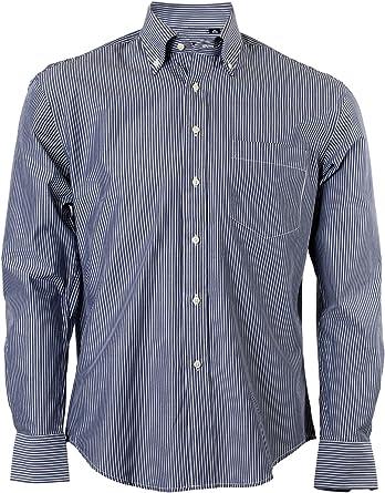 Camisa clásica de rayas, color azul oscuro azul azul oscuro ...