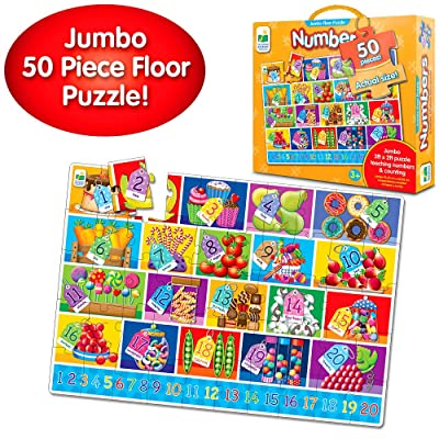 The Learning Journey: Jumbo Floor Puzzles - Numbers - Extra Large Puzzle Measures 3 ft by 2 ft - Preschool Toys & Gifts for Boys & Girls Ages 3 and Up: Toys & Games