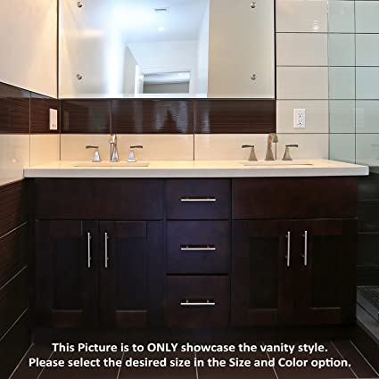 Espresso Shaker 42u0026quot; Vanity Sink Base With 3 Drawers On ...
