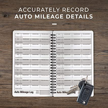 amazon com portage auto mileage log and expense notebook durable