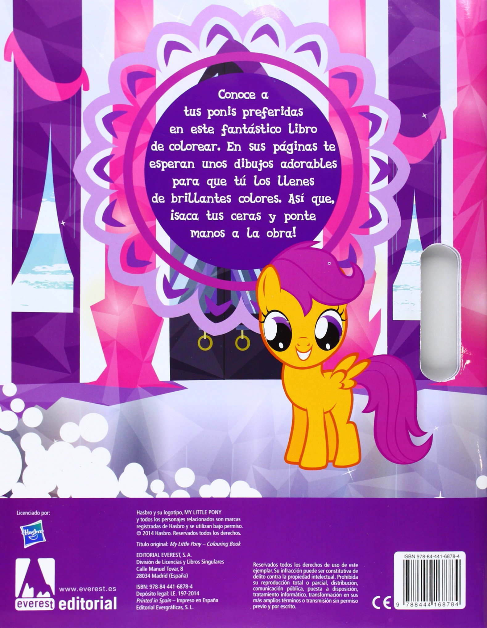 My Little Pony. La Magia De La Amistad. Libro De Colorear ...