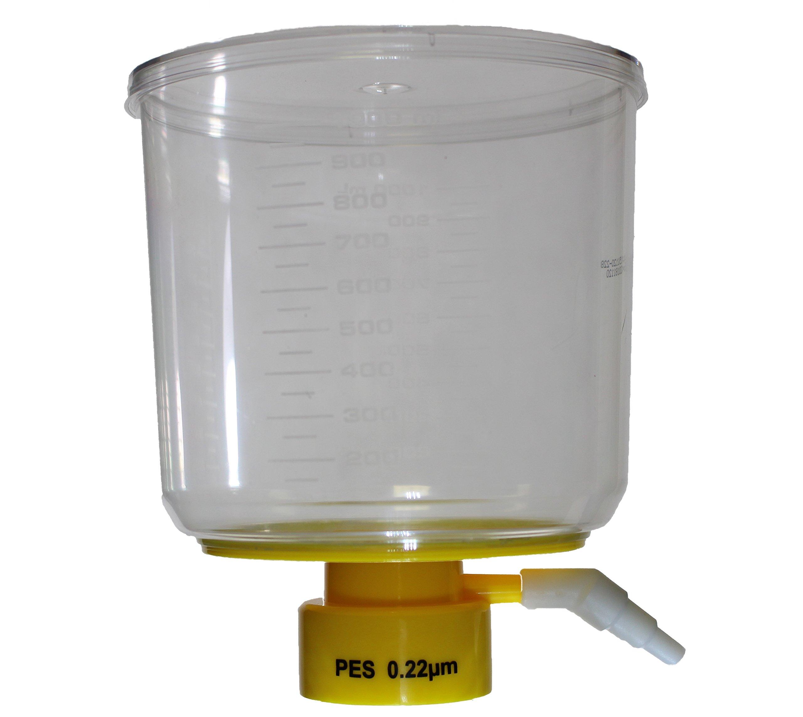 1000 mL Bottle Top Vacuum Filter, 0.22 um, PES, Sterile, Case of 12