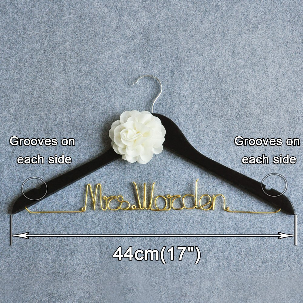 Amazon.com: Custom Wedding Dress Hanger, Personalized Bridal Dress ...