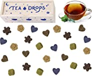 Sweetened Organic Loose Leaf Tea | Deluxe Herbal Sampler Assortment Box | Instant Pressed Teas Eliminate the Need for Teabags