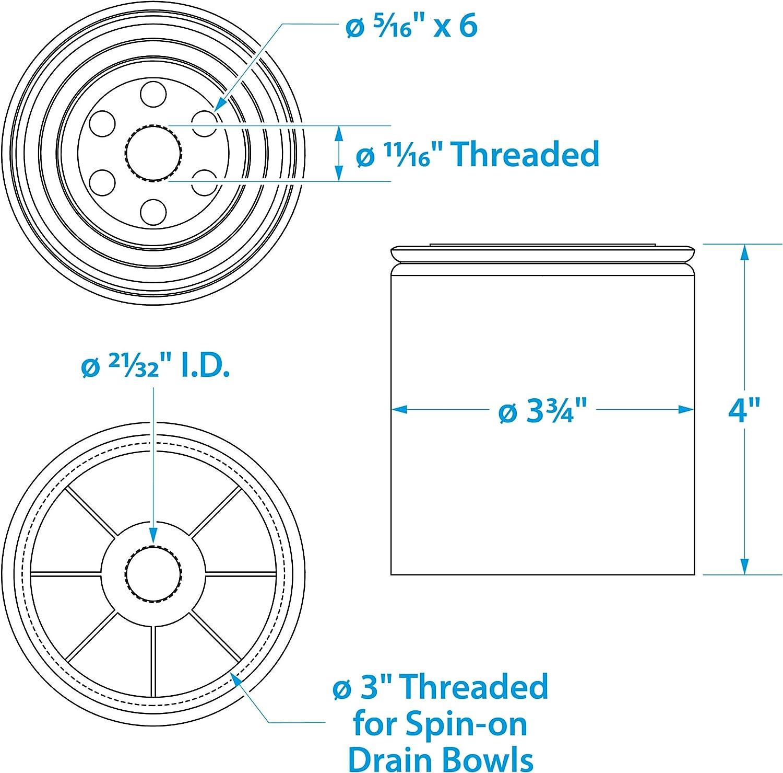/20951/Remplacement Filtre s/éparateur deau Essence Seachoice 50/