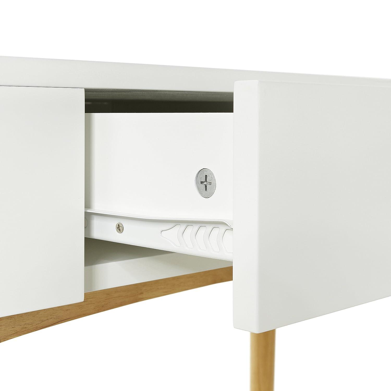 LOMOS n 11 bureausecrtaire en bois laqu blanc dans le design