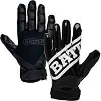 $22 » Battle Double Threat Football Gloves – Ultra-Tack Sticky Palm Receivers Gloves –  Pro-Style…