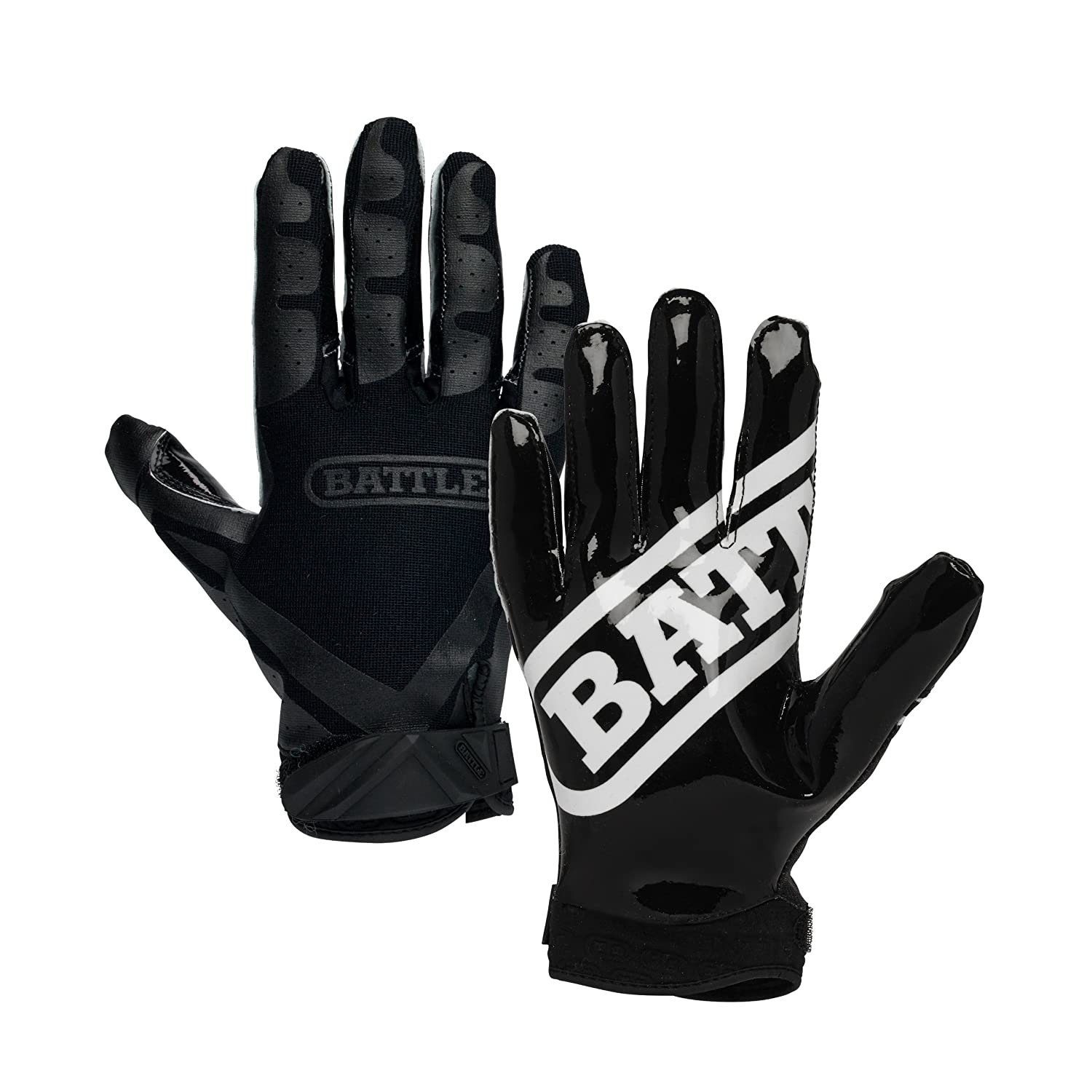 Battle Double Threat Football Gloves Ultra Tack Sticky Palm Receivers Gloves Pro Style Receiver Gloves Youth