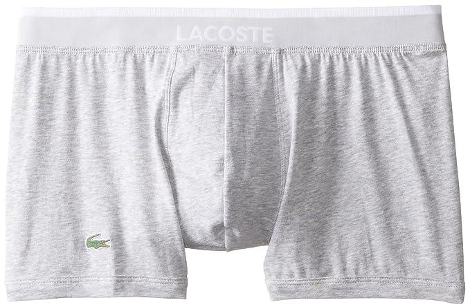 Lacoste Mens Colours Collection 2 Pack Cotton Stretch Boxer Briefs Grey