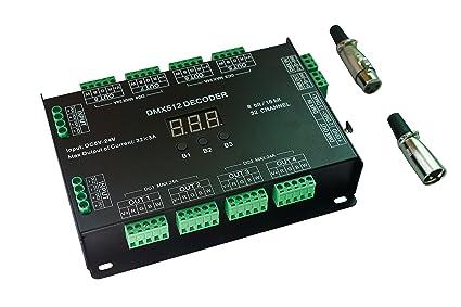 Amazon.com: 32 Channel 96A RGBW DMX 512 LED Decoder Controller DMX ...