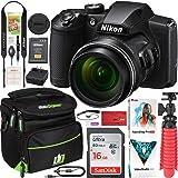 Nikon COOLPIX B600 16MP 60x Opt. Zoom Wi-Fi Digital Camera Black - (Renewed) Bundle with Deco Gear Camera Travel Bag…