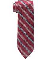 Wembley Men's Silky Stripe Tie, Red, One Size