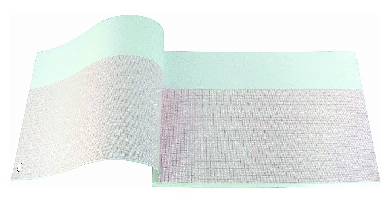 Paquete plegado de papel térmico para ECG compatible con HP/Philips M3708A