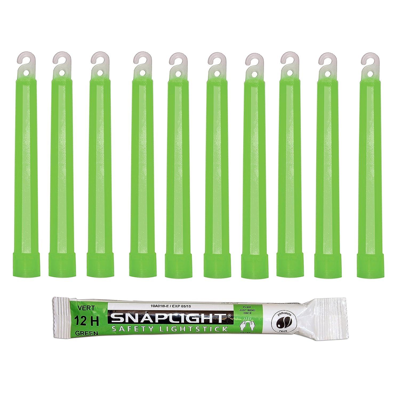 Cyalume KZ-IF8W-ILXA - Barras de luz verde SnapLight Luces químicas 15 cm, 6 Inch Lightstick super brillante con duración de 12 horas (Caja de 10)