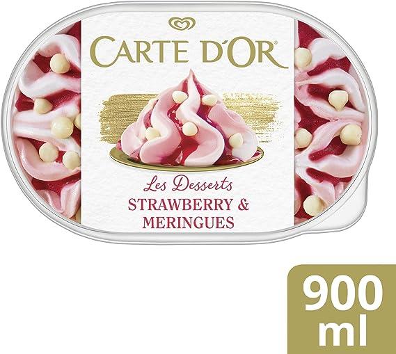 Carte DOr Gelateria Merengue y Fresa - 900 ml: Amazon.es: Alimentación y bebidas