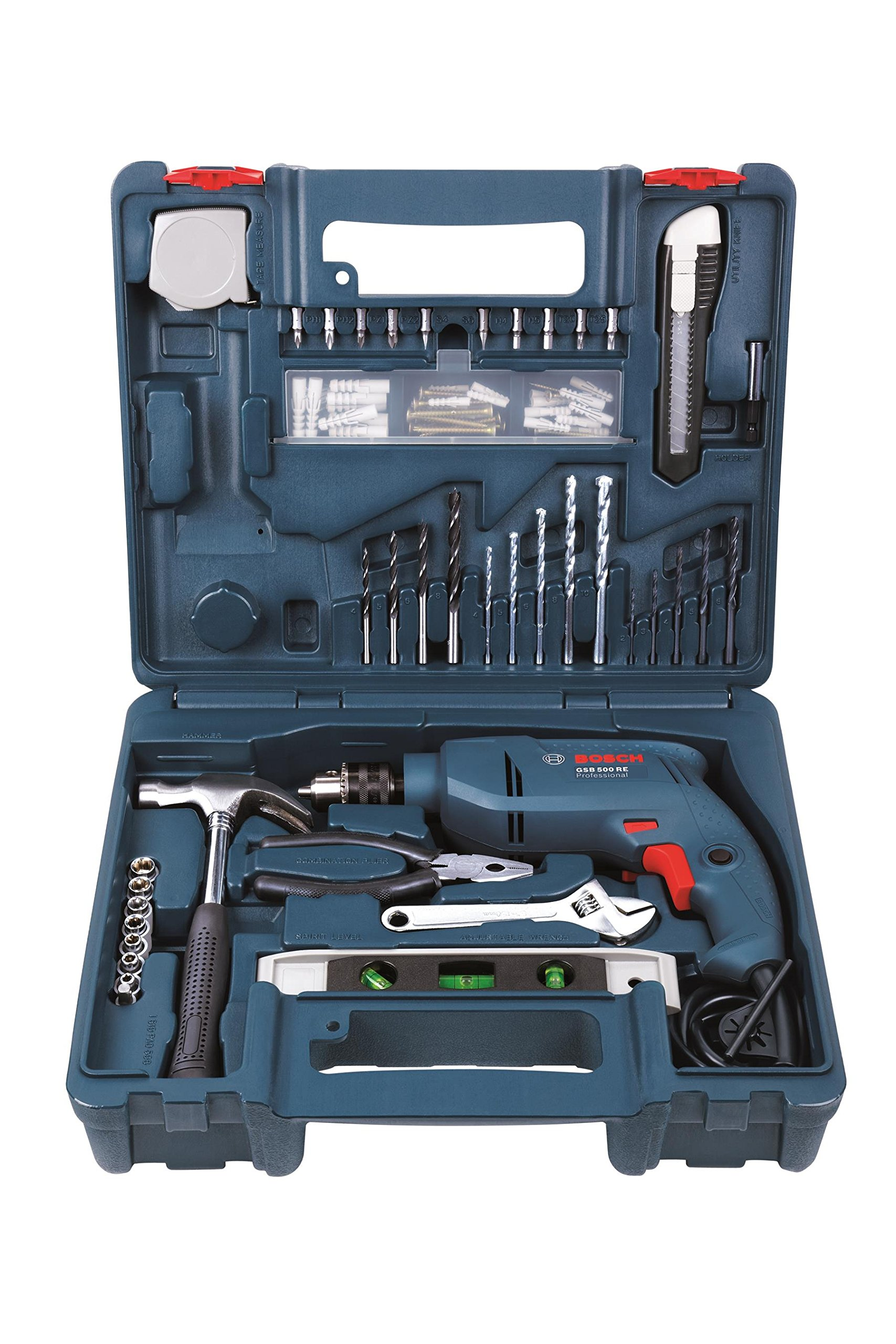 Bosch GSB 500W 500 RE Tool Set (Blue) product image
