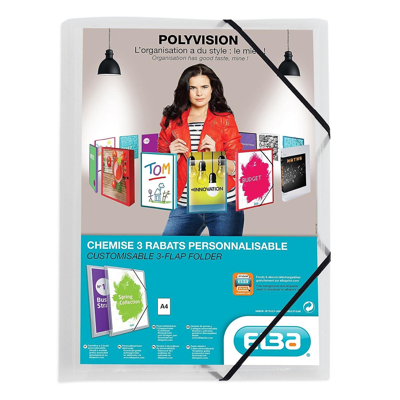 ELBA 100201153 Kunststoff-Eckspannmappe polyvision 12er 12er 12er Pack DIN A4 mit 3 Klappen farblos Sammelmappe Dokumentenmappe ideal für Büro Schule und die mobile Organisation B00E0HV4JK | Online-verkauf  f762dc