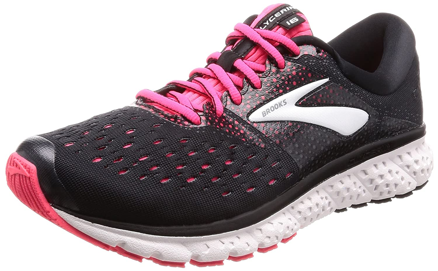 Brooks Womens Glycerin 16 B077YQ67M4 8 B(M) US|Black/Pink/Grey