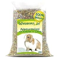 Wiesenknopf 15kg Kaninchenfutter Strukturfutter mit Kräuter, 2x7,5kg Pack