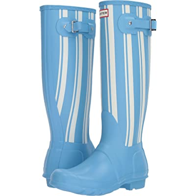 HUNTER Womens Original Garden Stripe Tall Rain Boots | Boots