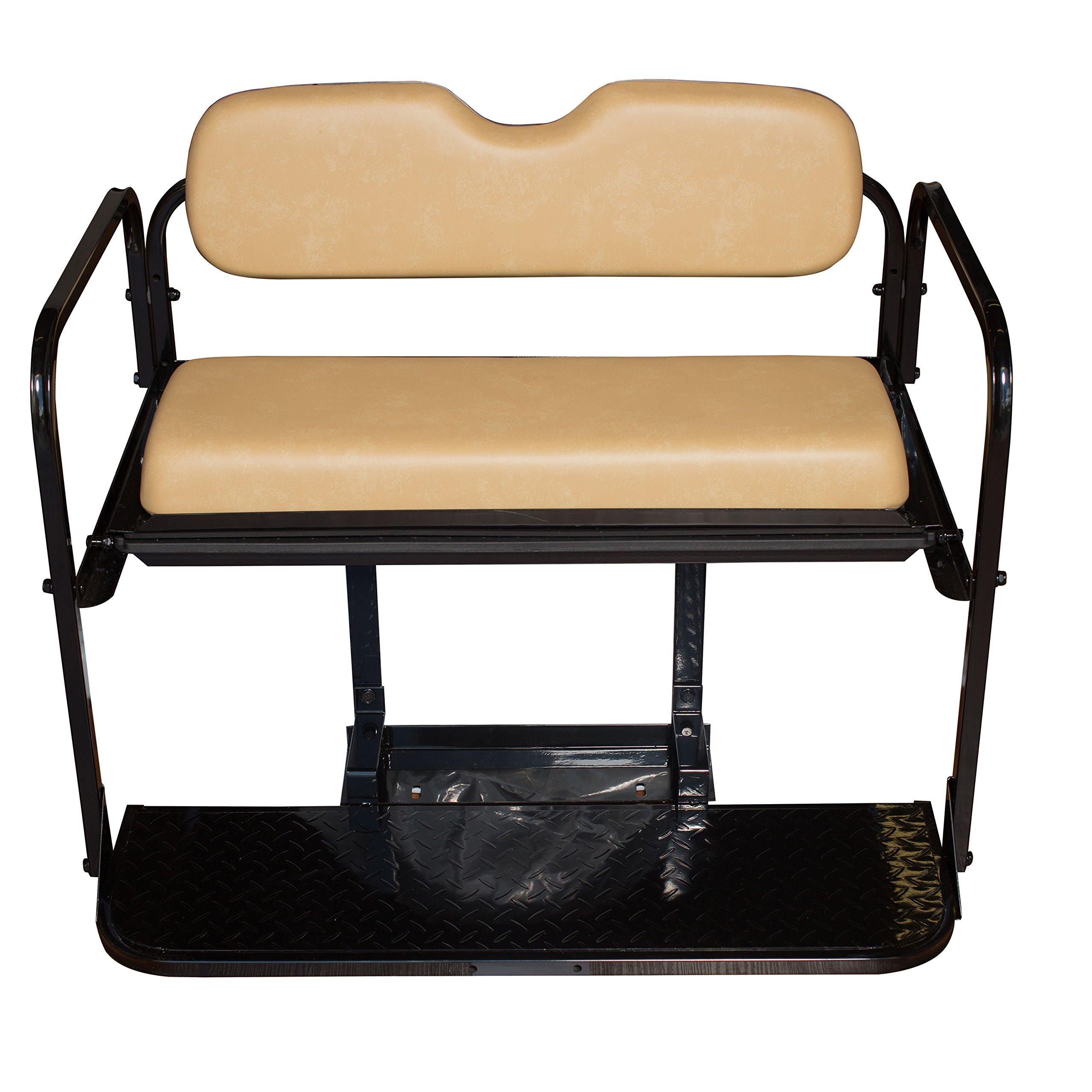 Golf Cart Rear Seat EZ-GO TXT Tan Cushions by Performance Plus Carts (Image #2)