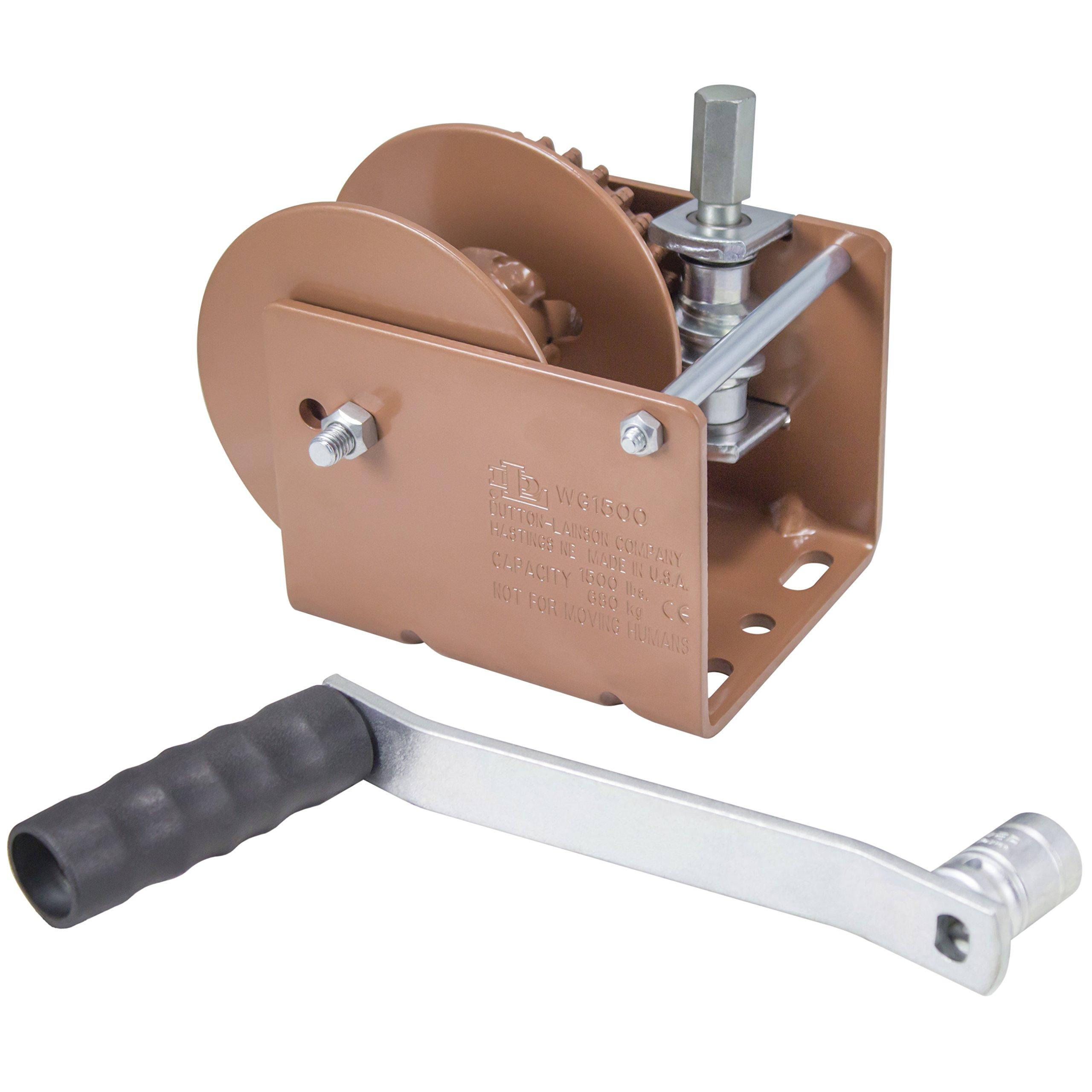 Dutton-Lainson Company WG1500HD 1500 lbs Worm Gear Winch with Hex Drive by Dutton-Lainson Company