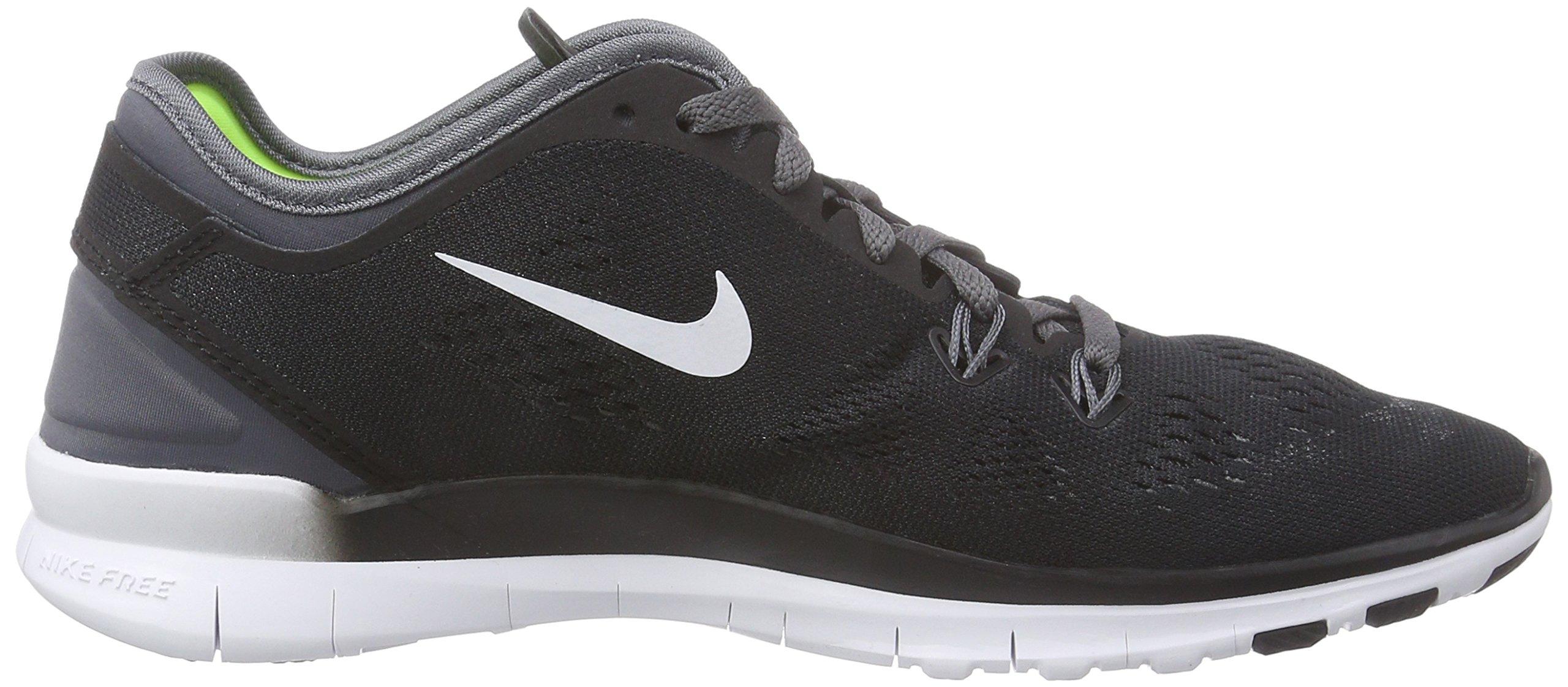 Nike Womens Free 5.0 Tr Fit 5 Black/White/Dark Grey/White Training Shoe 5 Women US by Nike (Image #6)