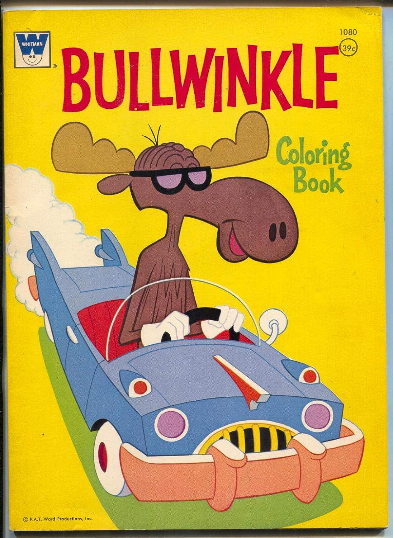 Amazon.com: Bullwinkle Coloring Book -Whitman #1080 1971 ...