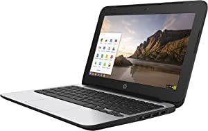 HP ChromeBook 11 G4 EE: 11.6-inch (1366x768) | Intel Celeron N2840 2.16GHz | 16GB eMMC SSD | 4GB RAM | Chrome OS - Black (Renewed)