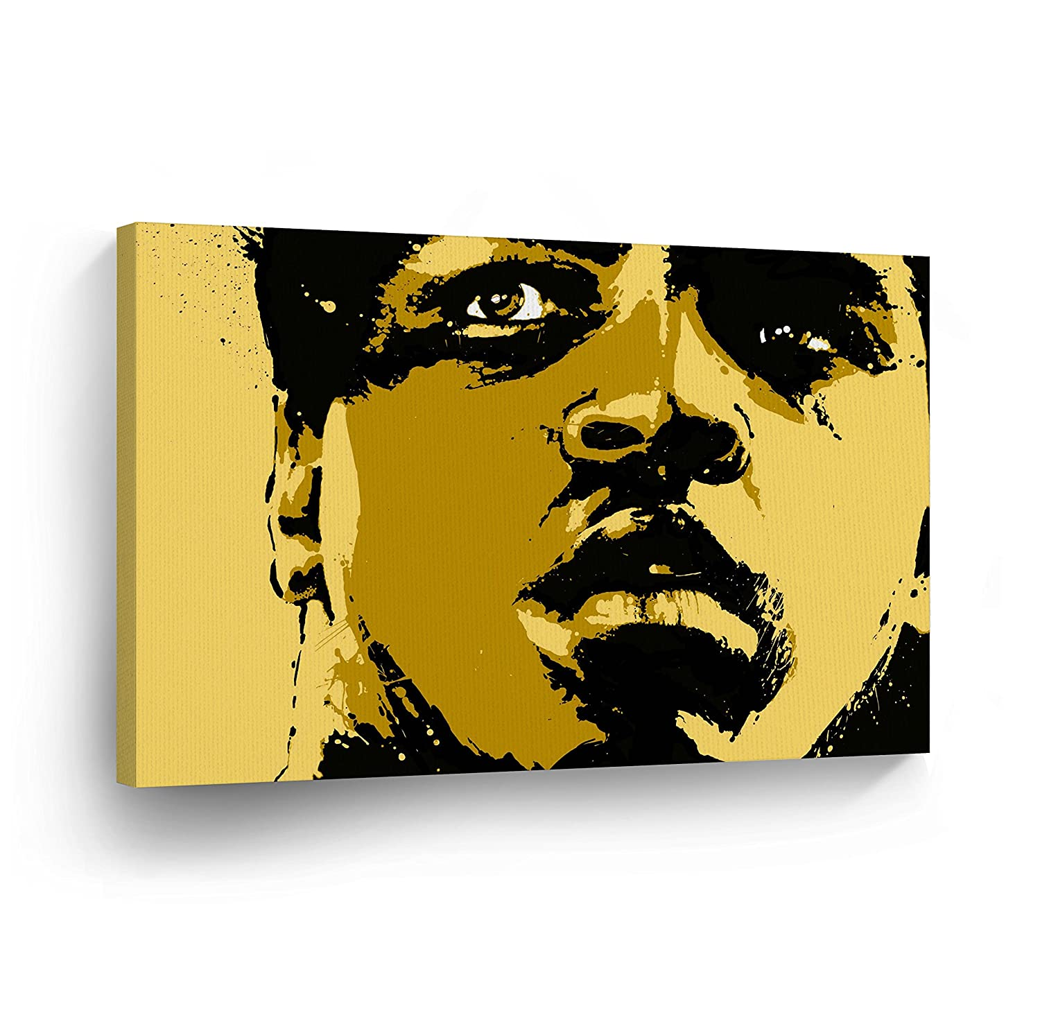 Amazon.com: Black and Yellow Colors Muhammad Ali Digital Painting ...