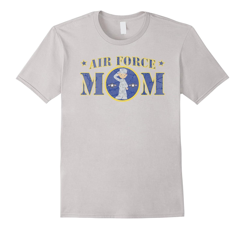 AIR FORCE MOM WHITE MALE AIRMAN MILITARY T-SHIRT-PL