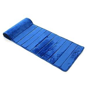 My First Nap Mat Premium Memory Foam Nap Mat with Built-In Removable Pillow, Blue