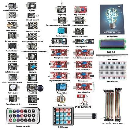 Amazon Sunfounder Basic Sensor Kit For Arduino Uno R3 Mega2560