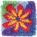 Shaggy Latch Hook Kit 12 Inch X 12 Inch -Flower Power