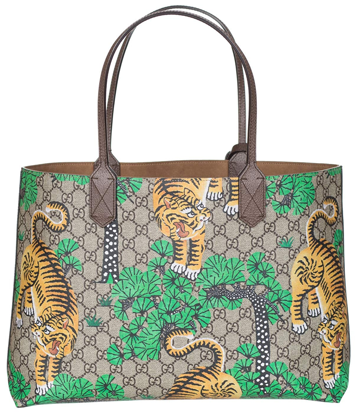 959d30c2e0b1d1 Gucci GG Supreme Leather Bengal Tiger Tote Shoulder Bag: Amazon.co.uk:  Shoes & Bags