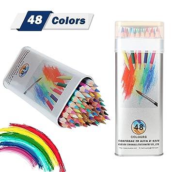 Lápices De Colores Kasimir 48 Lapices Acuarelables Lapiz Colores