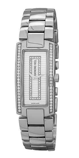Raymond Weil Watches Shine 1500-ST1-42381 - Reloj analógico de cuarzo para mujer, correa de cuero multicolor: Amazon.es: Relojes